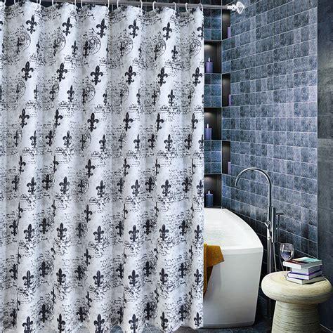 unique black  white classical cool shower curtains