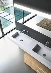 Meuble Salle De Bain Moderne : meuble salle de bain en teck et en bois moderne ~ Nature-et-papiers.com Idées de Décoration