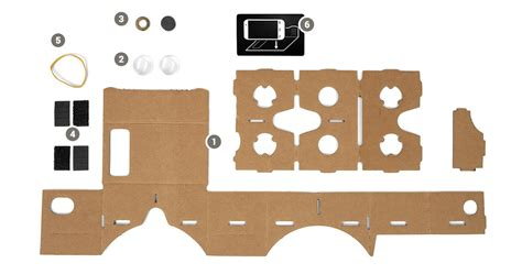 vr cardboard template weekend project make or buy your own cardboard vr headset android central