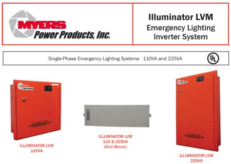 illuminator lvm series inverter system by myers power products economical led emergency