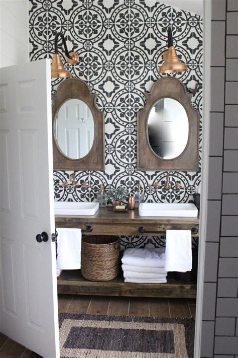 inspiring farmhouse bathrooms