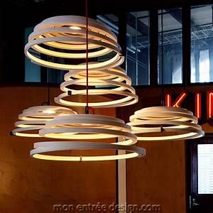 Luminaire Suspension Design : suspension design en bois luminaire led aspiro 8000 secto design ~ Teatrodelosmanantiales.com Idées de Décoration