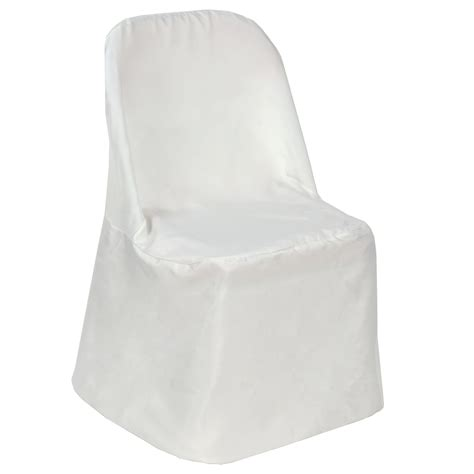 polyester folding flat banquet chair covers wedding