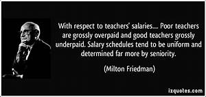 With respect to... Teacher Salary Quotes
