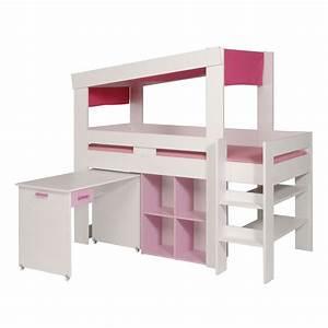 Lit Enfant Combiné : lit enfant combin lily blanc ~ Farleysfitness.com Idées de Décoration