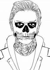Horror Evan Langdon Tate Coloring Peters Coven Punk Font Th Ahs Stories Anime Deviantart Template Ak0 sketch template