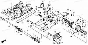 Honda Atv 1991 Oem Parts Diagram For Swingarm