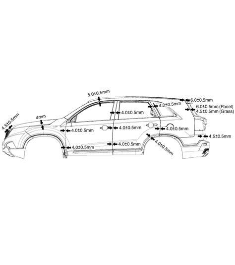 kia sorento body panel gaps body dimensions body