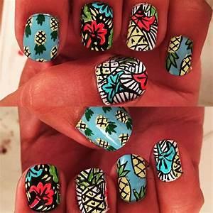 pineapple nail pinapple pineapplenailart nailpiedi