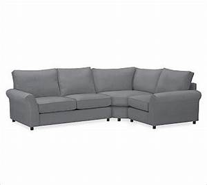 Pb comfort roll arm upholstered left 3 piece wedge for 3 piece sectional sofa with wedge