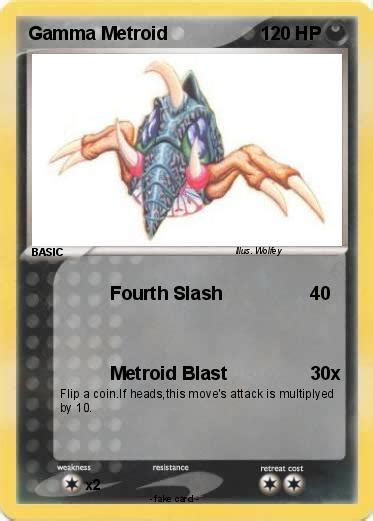 Pokémon Gamma Metroid Fourth Slash My Pokemon Card