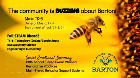 clara barton elementary school bee healthy bee happy