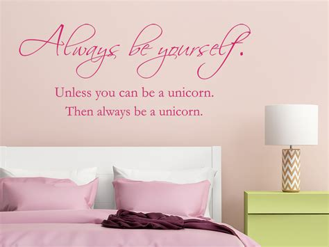 wandtattoo be yourself be a unicorn wandtattoo de