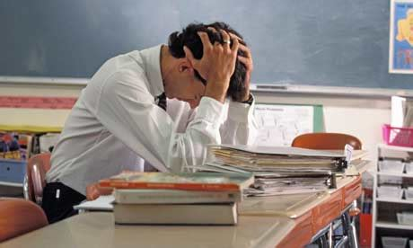 depressed stressed teachers  crisis education