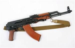 Soviet AKMS (AK47) Assault Rifle Stock Image - Image of ...