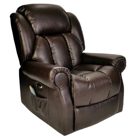 Automatic Recliner Chairs by Hainworth Leather Reclining Powered Electric Recliner