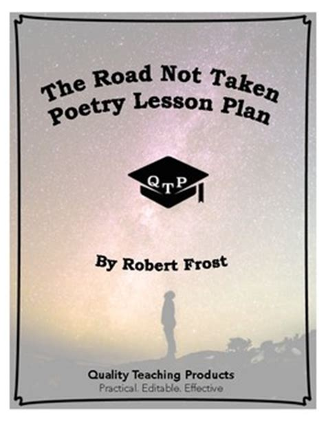 the road not taken poem by by quality teaching