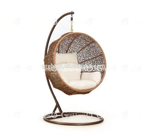 rattan furniture egg shaped wicker hanging swing chair