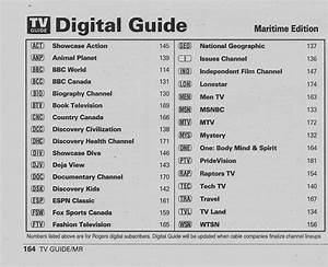 Vintage Channel Guide From Maritime Edition Of Tv Guide