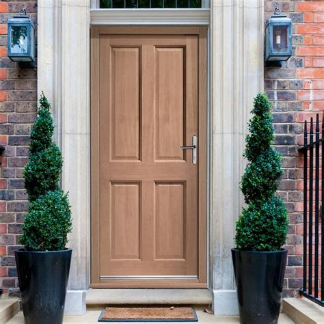 External Doors by Colonial Exterior 4 Panel Hardwood Door External Panel