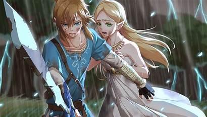 Zelda Link Breath Wild Legend Princess Crying