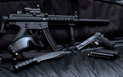 Submachine Gun Weapons Wallpapers Background Wall