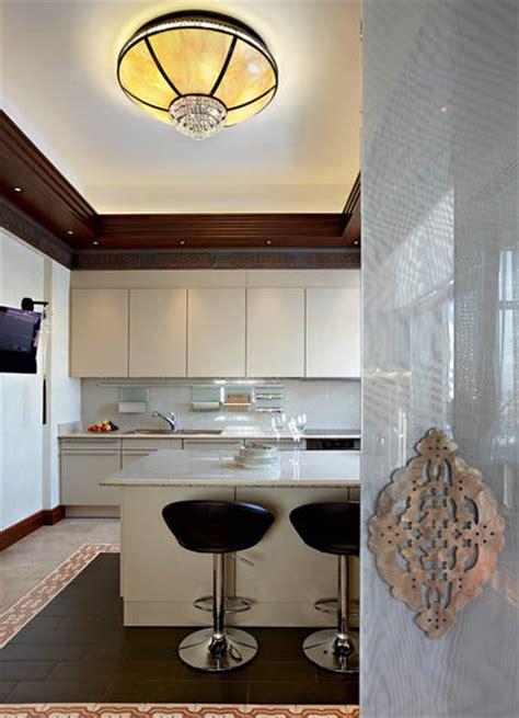 arabic decor motifs  modern interior design luxurious penthouse  moscow