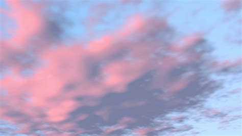Blue Sky Pink Clouds Speed Sunset Sky Background Motion