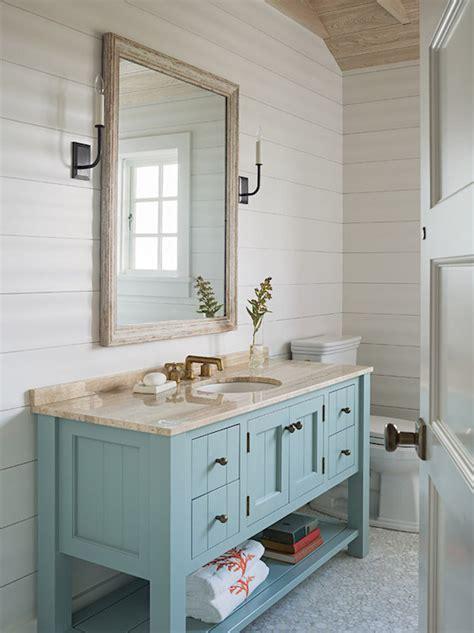 Turquoise Bathroom Vanity  Cottage  Bathroom Dearborn