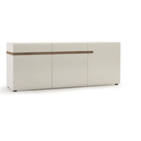 White Gloss And Oak Sideboard by Mode White Gloss Oak Sideboard 3 Door 2 Drawer