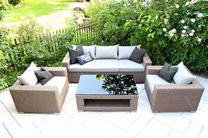 Outdoor Möbel Lounge : outdoor lounge m bel set chilli by garderobia geflecht toupe ~ Indierocktalk.com Haus und Dekorationen