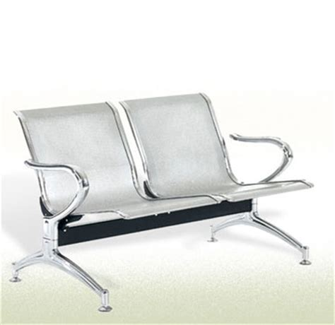 ss metal waiting area chair two seater sofa mumbai