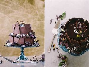 20 of the Yummiest Chocolate Wedding Cakes - Chic Vintage ...