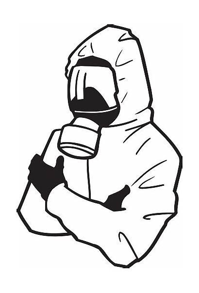 Hazmat Suit Clipart Vector Clip Cartoon Illustration