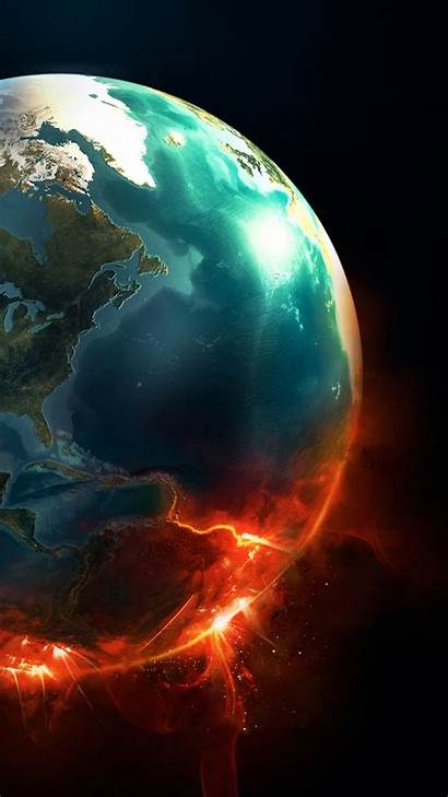 Earth Planet Explosion Android Supernova Wallpapers Desktop