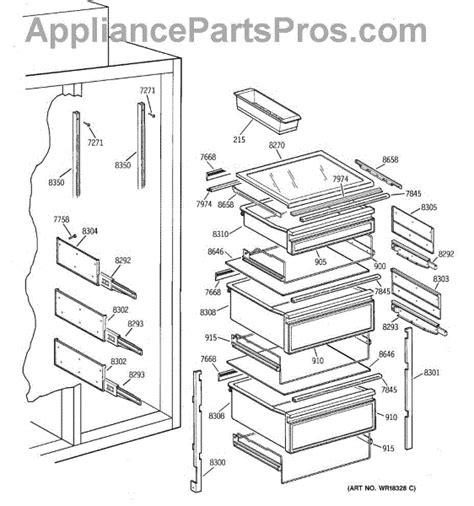 parts  ge zissdcass fresh food section parts appliancepartsproscom