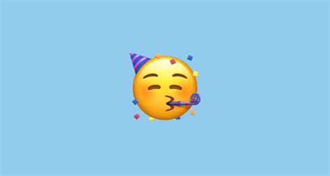 face  party horn  party hat emoji
