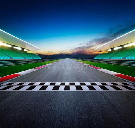 view   infinity empty asphalt international race