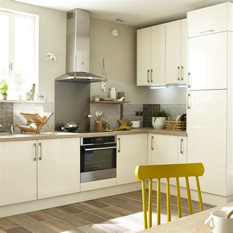 but meuble de cuisine meuble de cuisine beige delinia perle leroy merlin