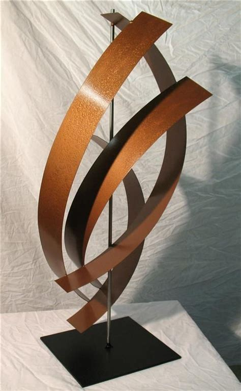 Abstract Shapes Sculpture by Abstract Metal Sculpture G66 Steel Base Atlanta