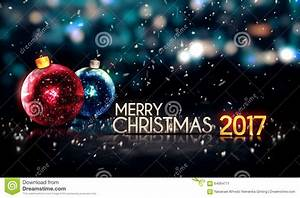 Merry Christmas 2017 Night Bokeh Beautiful 3D Background ...