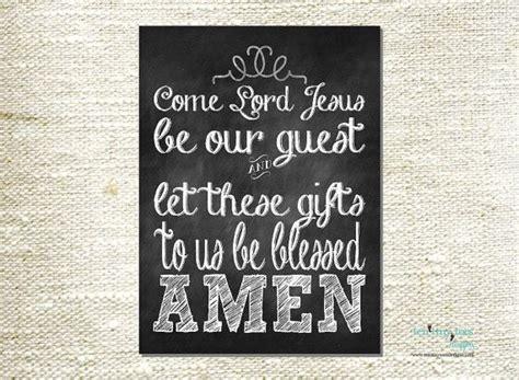 come lord jesus // common table prayer // chalkboard print