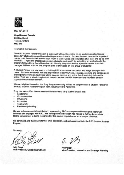 RBC Reference Letter