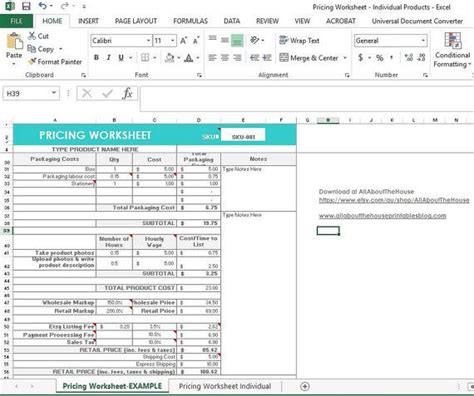 pricing calculator shop management tool etsy sellers