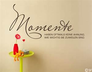 Schöne Momente Bilder : wandtattoo momente wandtattoos spr che und zitate ~ Orissabook.com Haus und Dekorationen