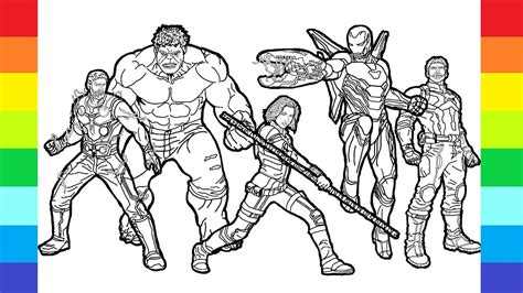 how to marvel drawing avengers coloring page super hero