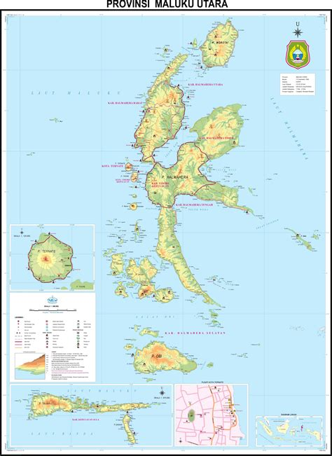 peta kota peta provinsi maluku utara