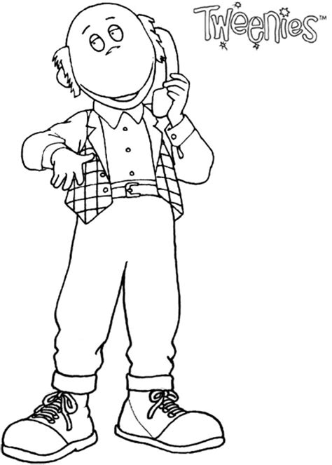 coloring pages tweenies printable  kids adults