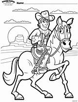 Coloring Cowboy Vbs Cowboys Cow Children Western Cactusville Vbx Programming Themes sketch template