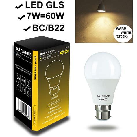 5w 7w 12w led 40 60w 100w e27 b22 gls l light bulbs warm cool day white ebay